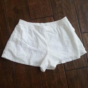 Polo white eyelet shorts